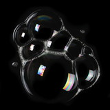 foam, bubble isolated on black, with clipping path texture and background  - 183007789