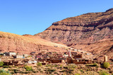 rural berber villages at moroccan atlas