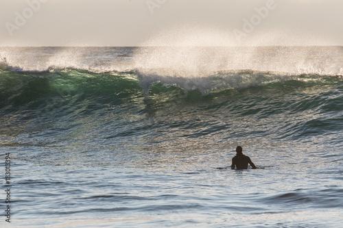 Foto op Canvas Grijs Surfing in lofoten