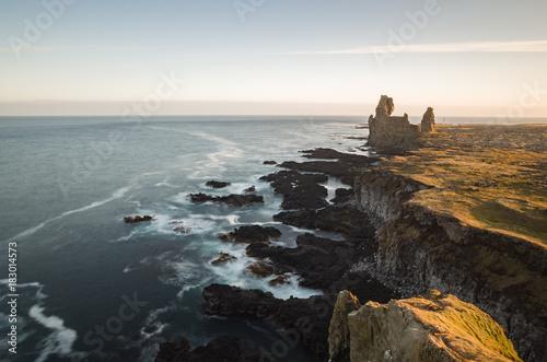 Fotobehang Grijze traf. Landscape of Iceland