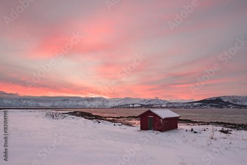 Aluminium Donkergrijs Landscape in Vesterålen, Norway