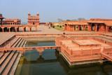 Ornamental pool in Fatehpur Sikri complex,  Uttar Pradesh, India