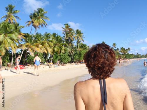 Poster Tropical strand martinique