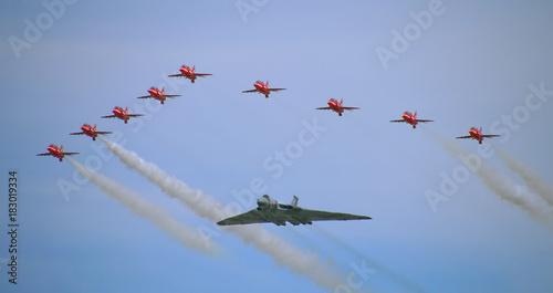 The Red Arrows and Avro Vulcan