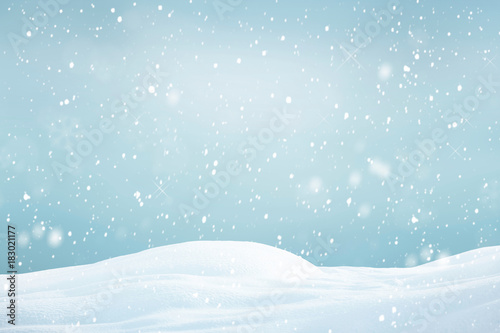Winter background, falling snow