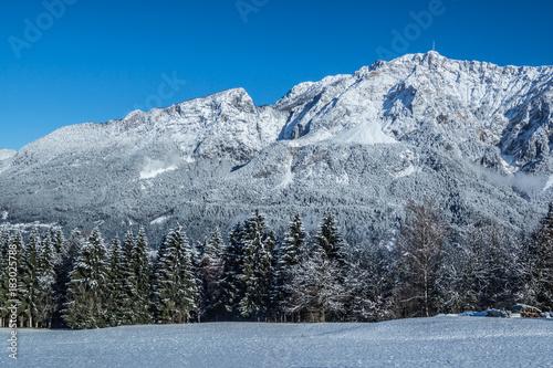 Fotobehang Vestingwerk Winterlandschaft