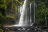 big magical and bucolic waterfall in bali. indonesia