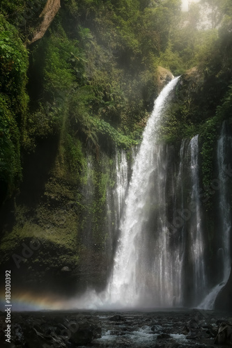 big magical and bucolic waterfall in bali. indonesia - 183030392