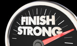 Finish Strong Speedometer Win Race Competition End 3d Illustration - 183034382