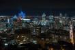 Montreal Downtown Skyline Night