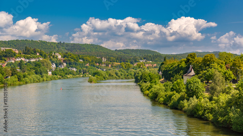 View of River Moselle in Trier (Rhineland-Palatinate, Germany)