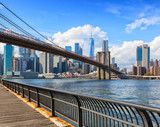 The Brooklyn Bridge with Lower Manhattan in the background at  the daytime, New York City, United States. - 183061111