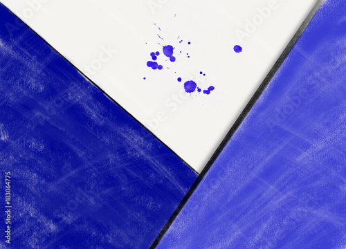 Fototapeta Abstract picture with blue figures