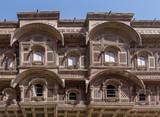 Detail of Mehrangarh Fort's architecture, Jodhpur, Rajasthan, India