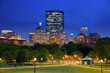 Boston Back Bay Skyline taken from the Boston Common Hill, the most ancient city park in the United States