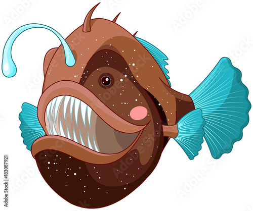Poster Sprookjeswereld Angler Fish