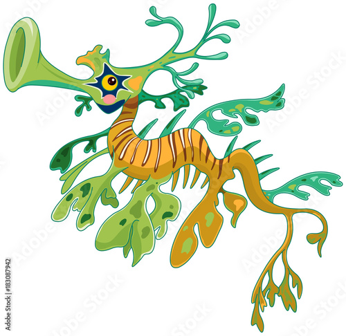 Poster Sprookjeswereld Dragon Seahorse