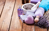 lavender spa products - 183094374
