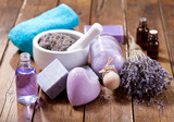 lavender spa products - 183094390