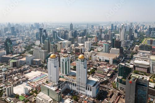 Foto op Canvas Bangkok Panoramic aerial view of the Bangkok in a beautiful spring morning. Bangkok,Thailand.