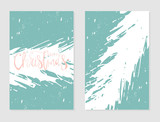Set of Abstract Hand Drawn Universal brush Cards. Happy Holidays Christmas vector graphic background. Vector illustration - 183098199