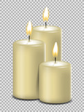 Kerzen weiß brennen Vektor isoliert