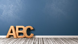 ABC Letters on Wooden Floor - 183103768
