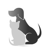 Cat and dog pet clinic icon - 183112590
