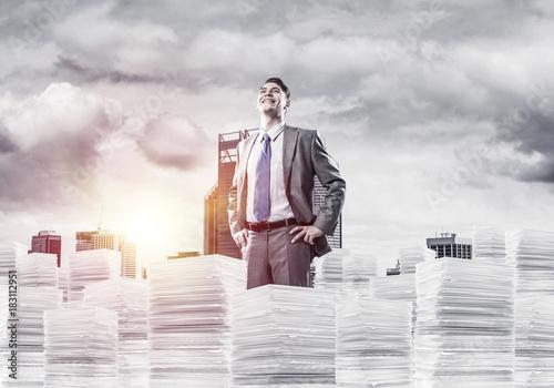 Successful confident businessman in suit.