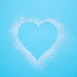 Blue background with hearts.  - 183114146