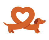 Heart shaped dachshund
