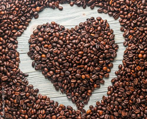 Plexiglas Koffiebonen Кофейные зерна крупным планом