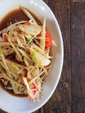 Somtum is famous Thai food - 183141318