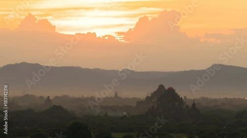 Sunset Timelapse in Bagan, Myanmar