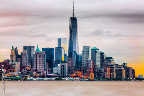 Poster Shanghai 1WTC Freedom Tower. NYC skyline