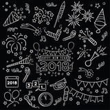 Handdrawn New Year Celebration