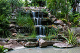 waterfall at front yard., low speed shutter.