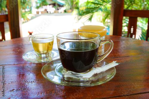 Papiers peints Cafe Hot Americano and Hot tea