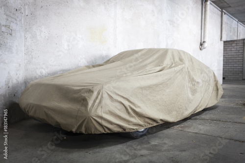 Sticker Car under a protective cover