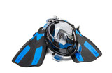 mask for diving isolated - 183150371