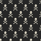 seamless skull pattern - 183156341