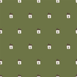 seamless hut pattern - 183156344
