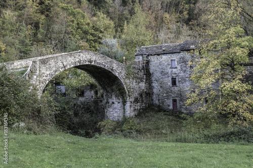 Plakat Abandoned mountain village