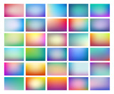 Abstract  blurred background set, colorful gradient meshes suitable for text, eps10 vector - 183174353
