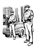 Policemen in the 5th avenue in New York - 183174757
