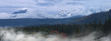 Beautiful and colorful panorama of the Tatras