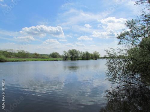 Foto op Canvas Noordzee Die Elbe bei Tespe