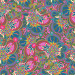 Seamless pattern with abstract flowers. - 183203114