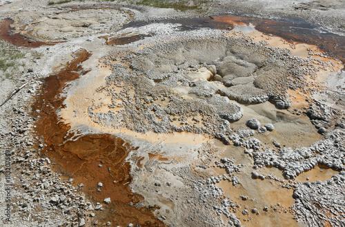 Fotobehang Stenen MIneral Stains in Geyser Crust