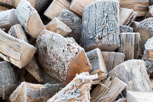 Staande foto Brandhout textuur Bois de chauffage